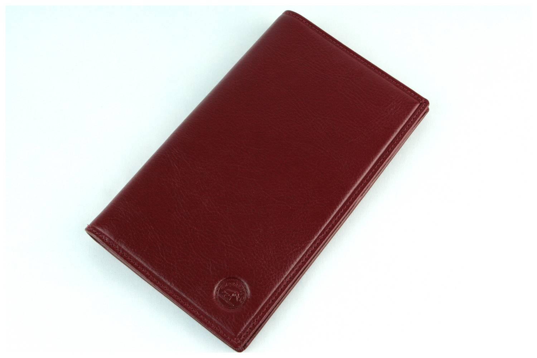 Porte chéquier portefeuille carte cuir vachette S5619 Rouge