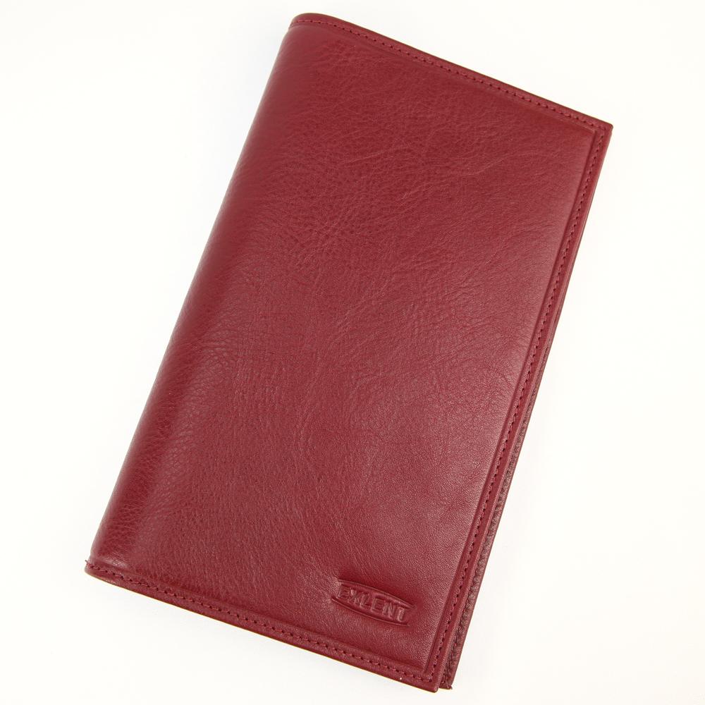 Porte chéquier portefeuille carte cuir vachette S5840 Rouge