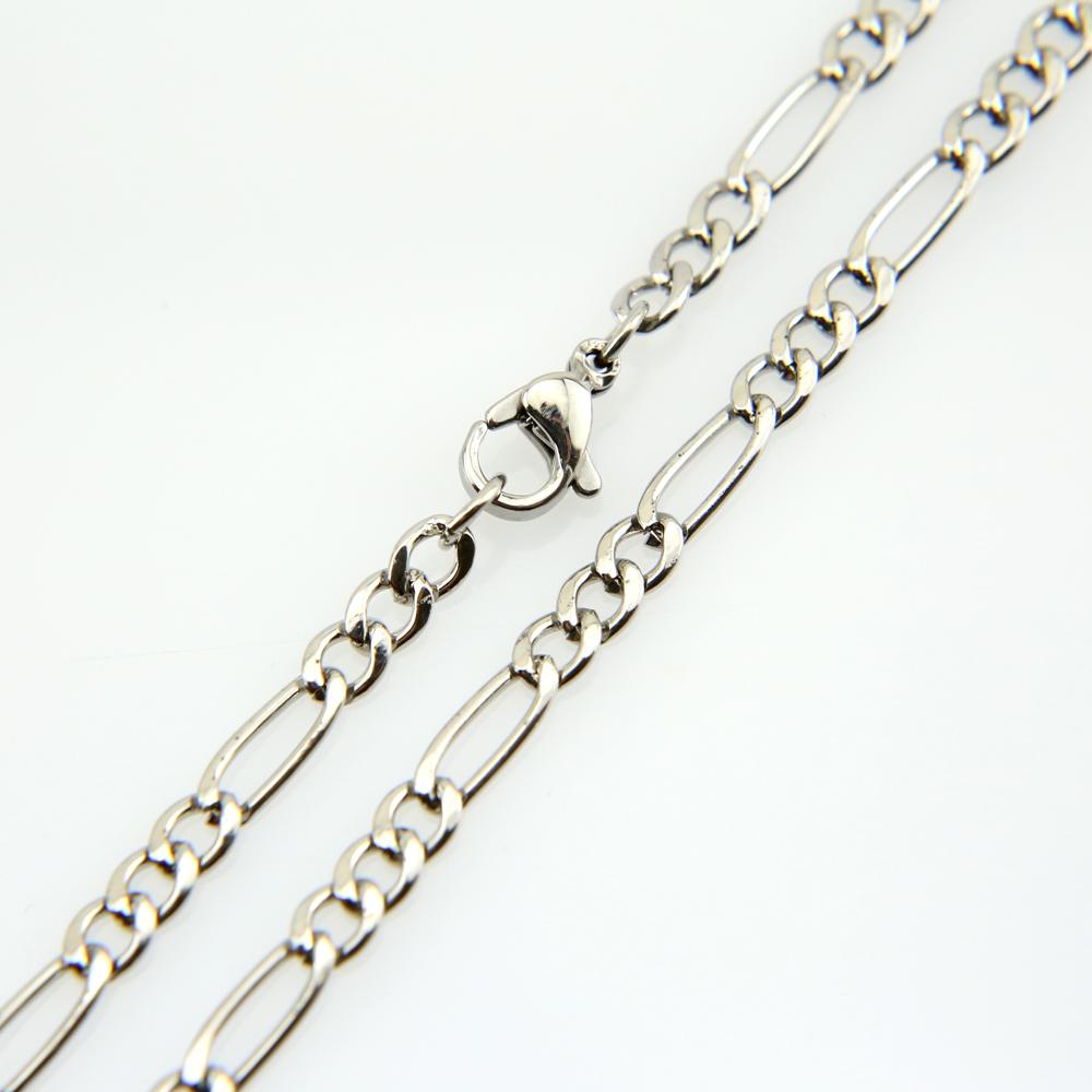 Chaîne collier acier maille figaro 1+3 CCS6 B 55 cm X 0.38 cm