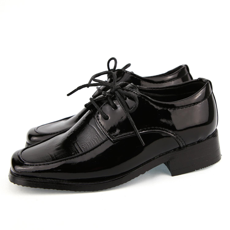 C901 Au Garçon Chaussure Pour Noir Enfant Cérémonie Derby Verni 24 Mariage 37 Nwnmv80