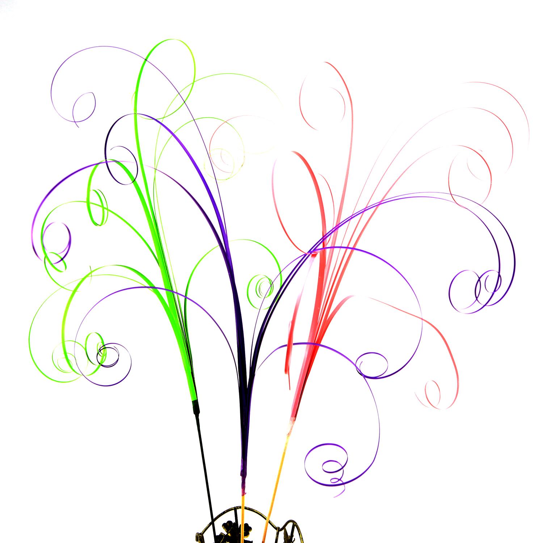 Lot tiges de 8 brindilles d\'herbe fibres déco bouquet centre de table roses en bois DFB1