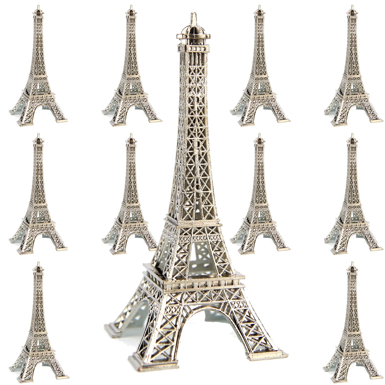 Tour Eiffel en métal argenté collection souvenir de paris 10 cm H10