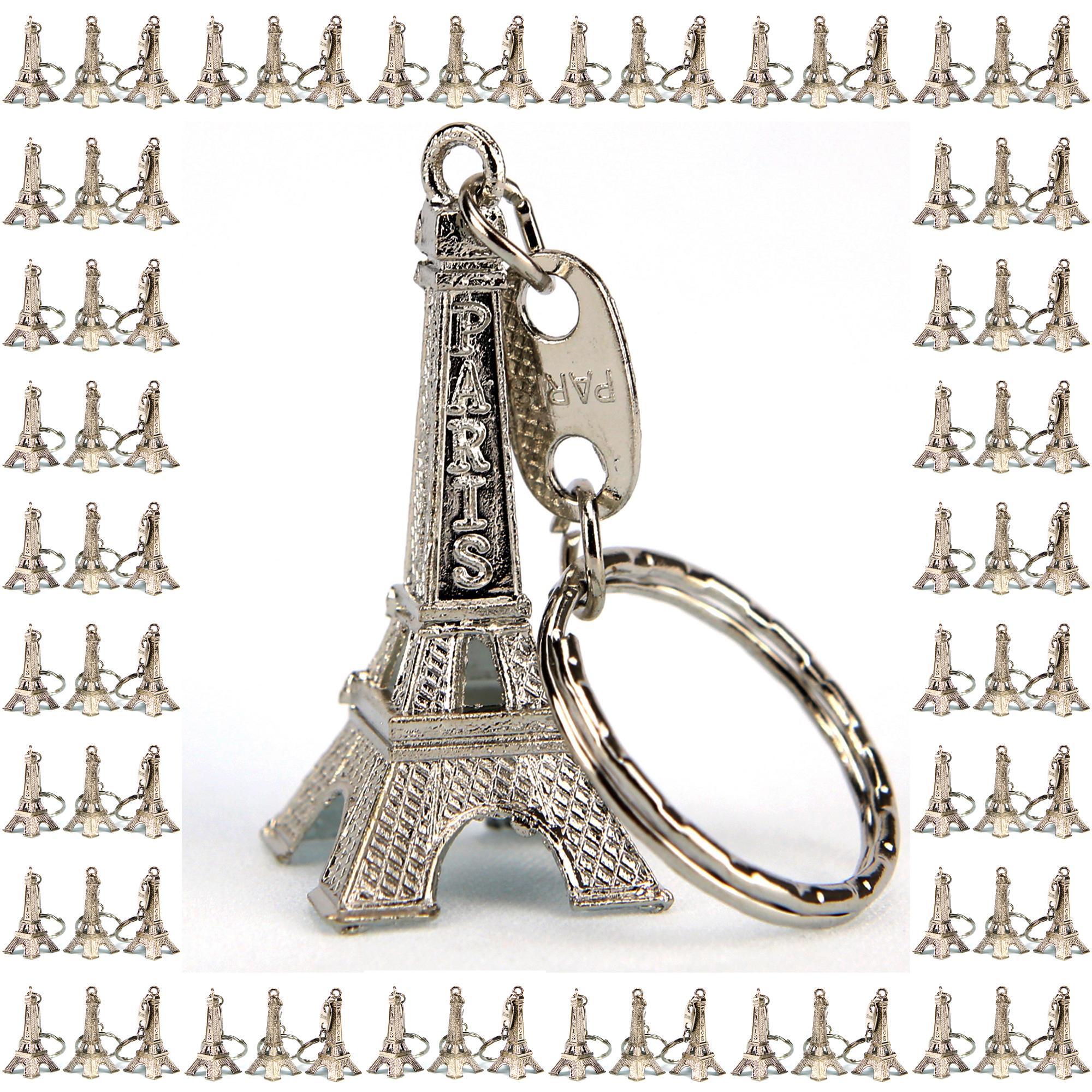 Lot de 300 porte clés clef tour Eiffel souvenir paris argenté revendeur TEA300