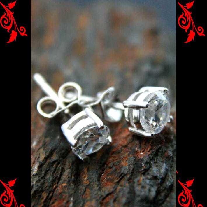 Boucles d\'oreilles bo diamant cz rond femme homme enfant argent neuf BOA68
