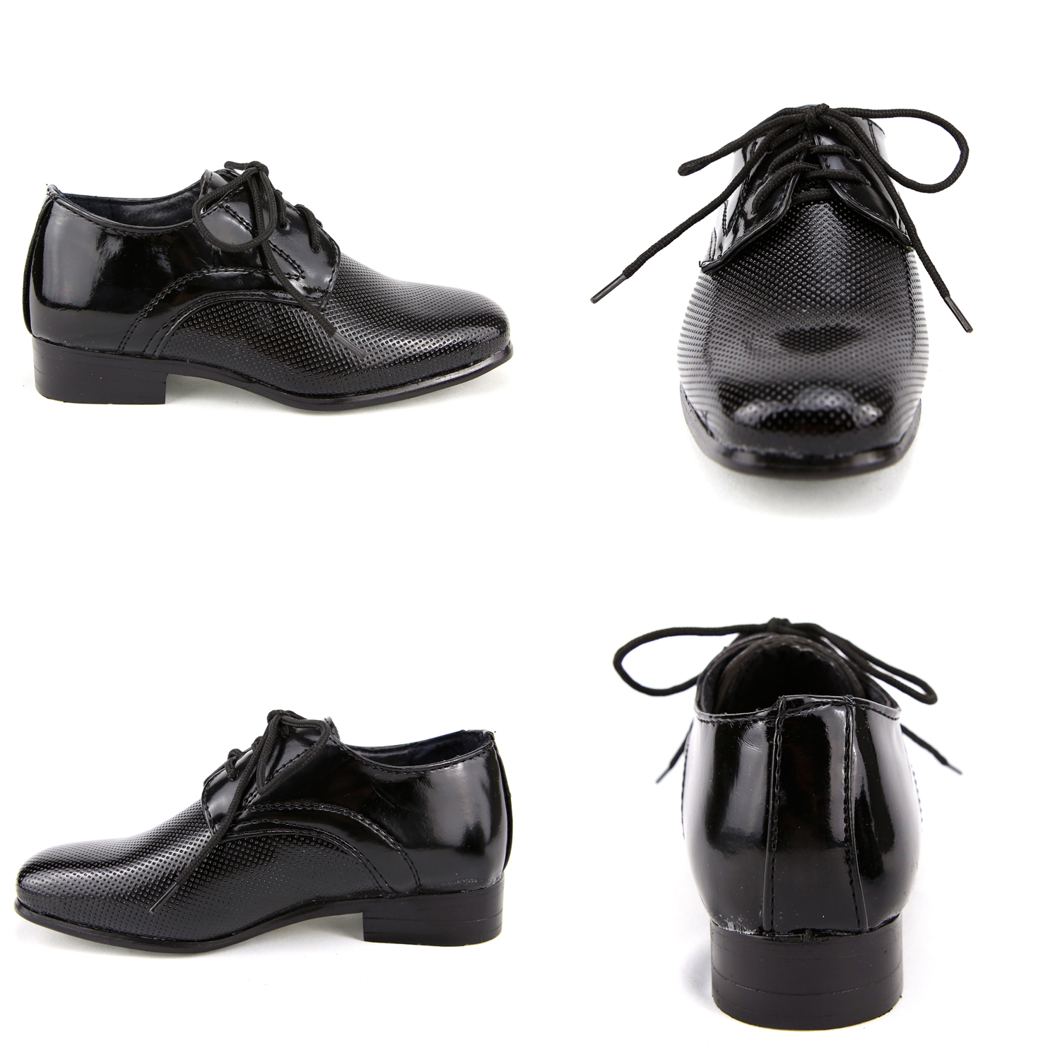 chaussure derby enfant gar on pour c r monie mariage 24 au 37 c8029 noir verni chaussures. Black Bedroom Furniture Sets. Home Design Ideas
