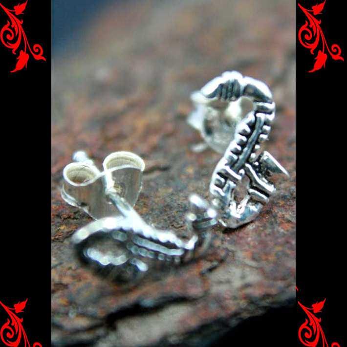 Boucles d\'oreilles bo serpent gothique homme enfant argent BOA73