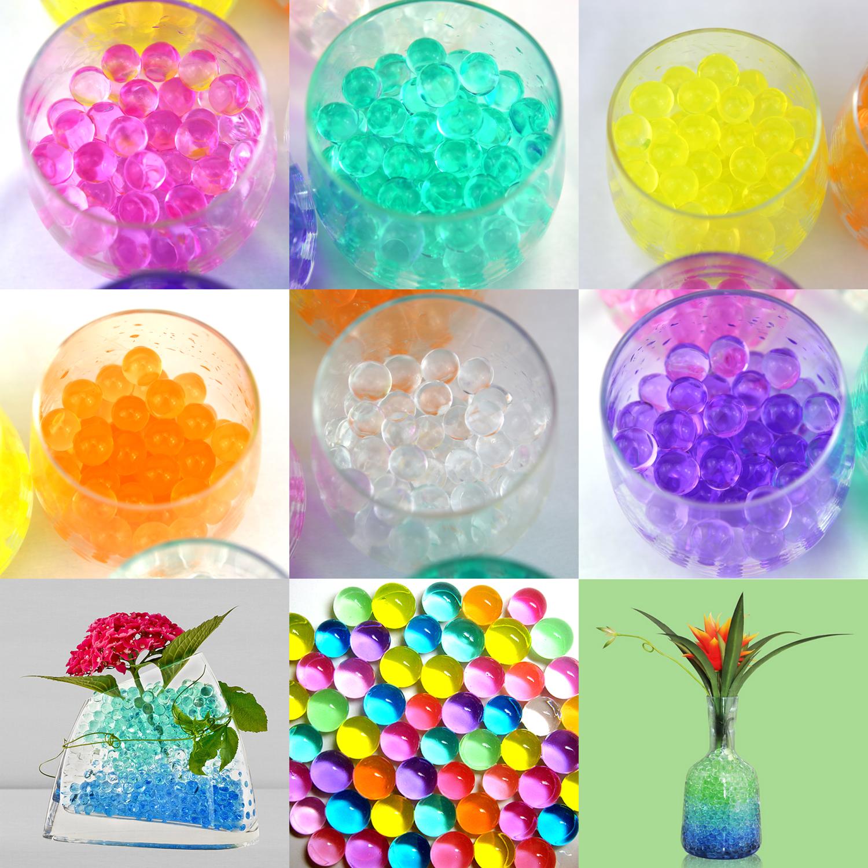 Lot de 24 sachets billes d\'eau hydrogel déco tables mariage floral plantes DBE1