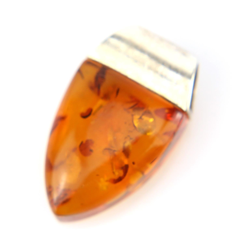 Pendentif argent ambre véritable PAM50 Cognac