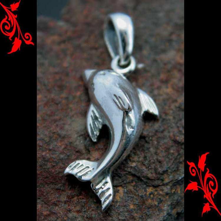 Pendentif dauphin poisson homme femme argent PA57