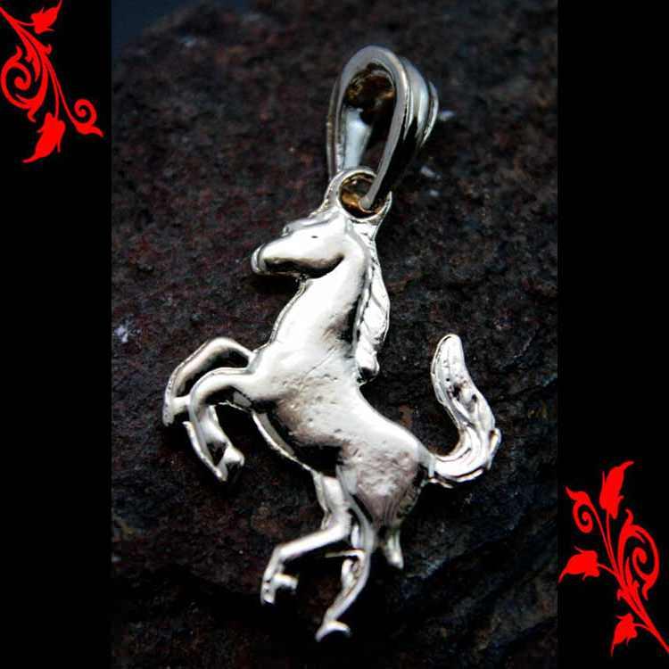 Pendentif cheval femme homme enfant cl plaqué or P17