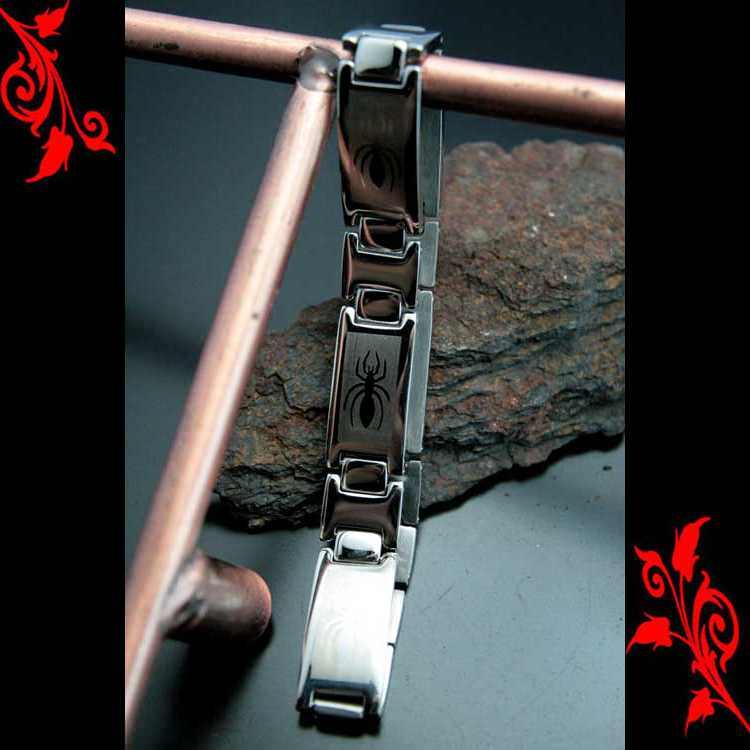 Bracelet gourmette areignee homme mixte acier BRS17