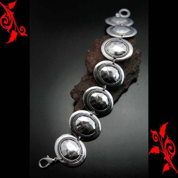 Bracelet goumette fantaisie oriental metal argente BRF3