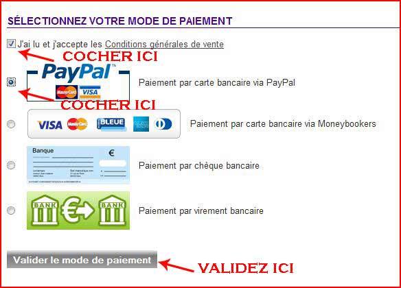 paiement carte bleu Paypal