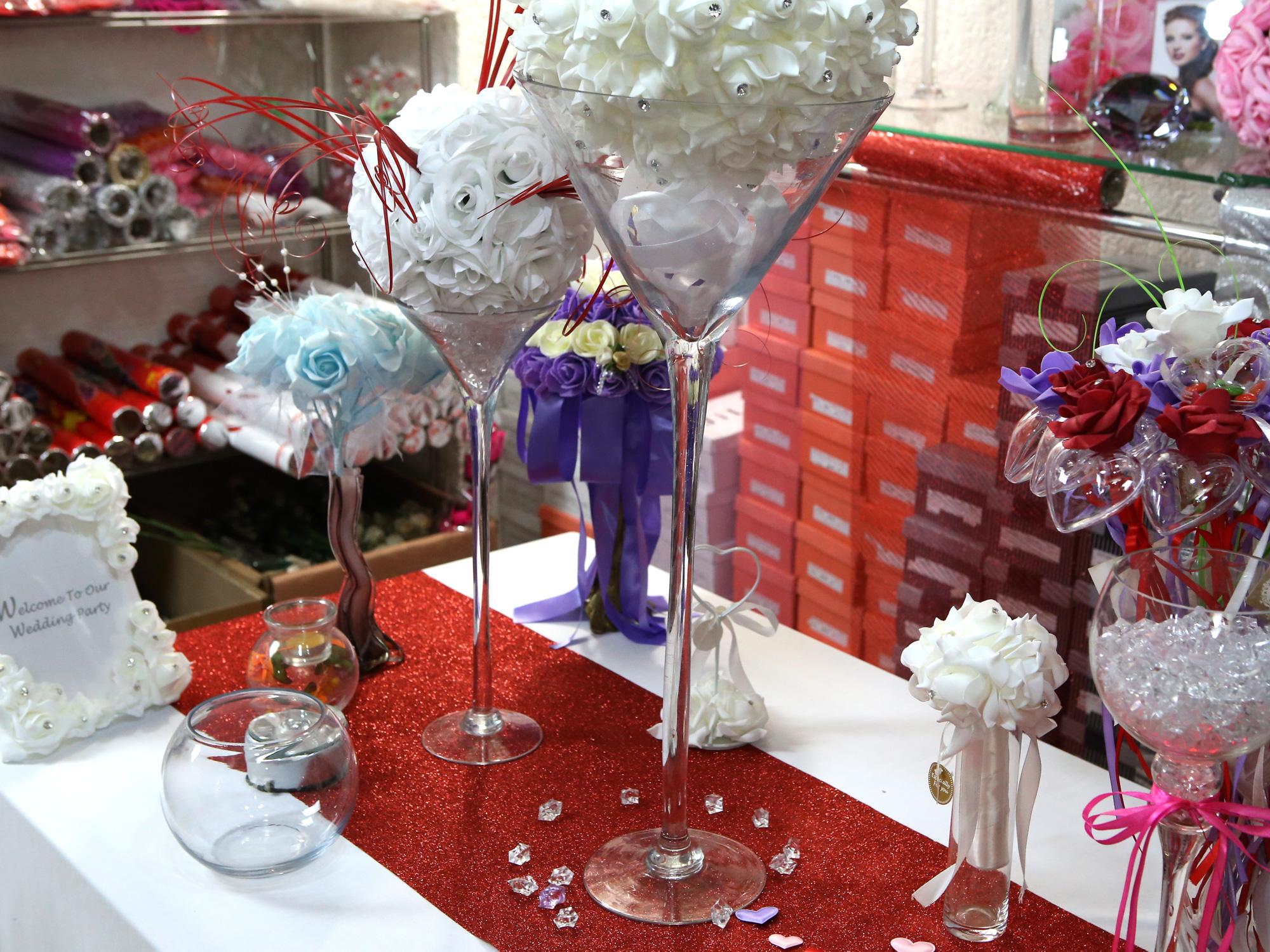 Grand Vase martini 60cm diamètre 25cm mariage VSM60