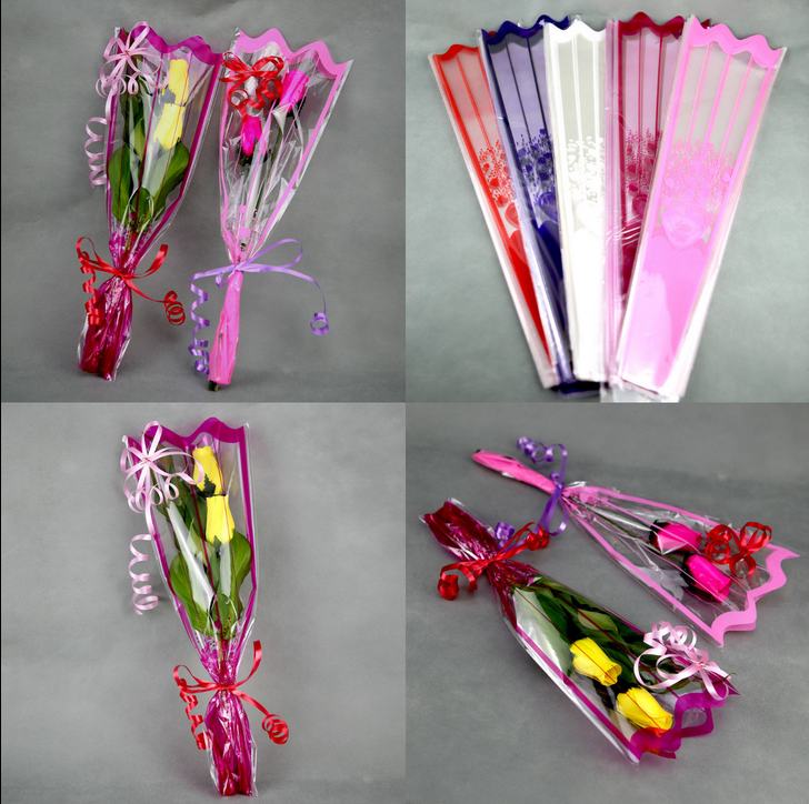 100 emballage cellophane roses en bois ou brins de muguet for Tige de bois pour decoration