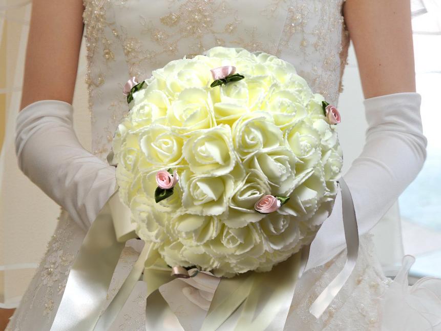 Bouquet de la mariée rose BQT4 IVOIRE