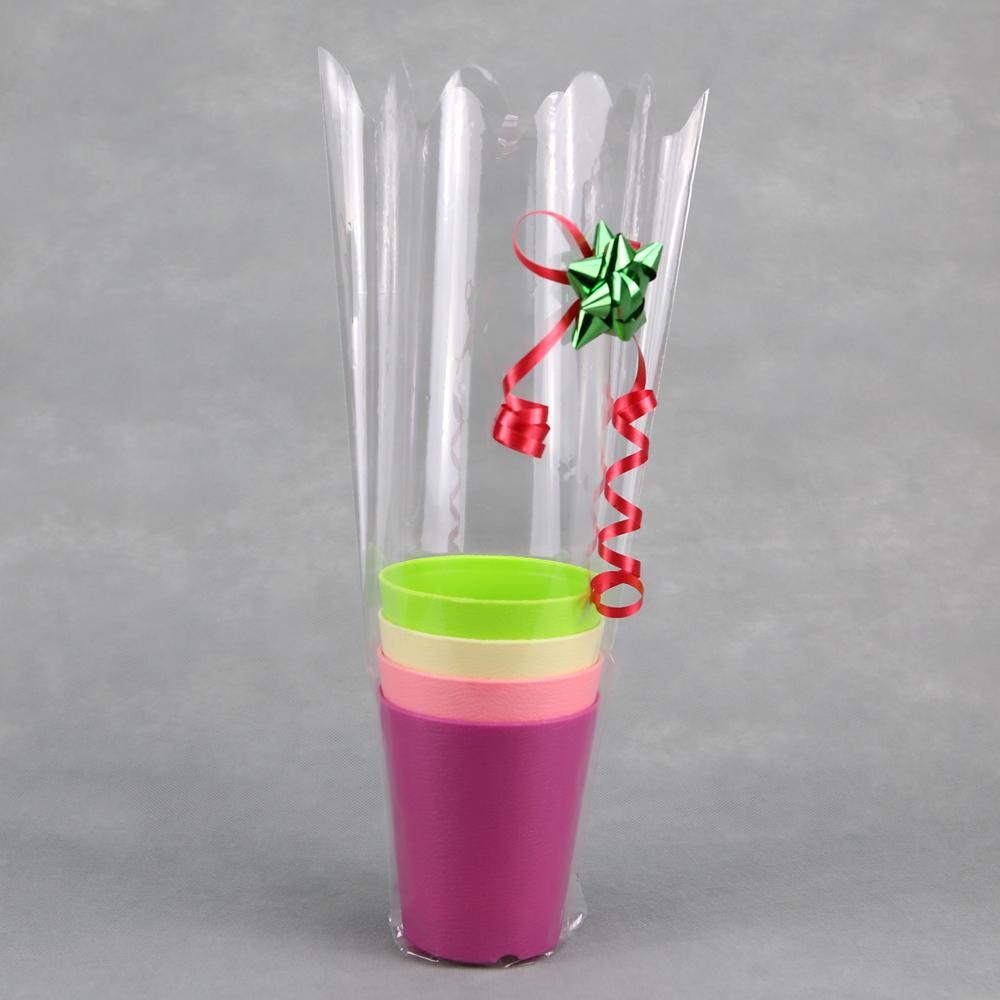 100 emballage cellophane roses en bois ou brins de muguet 1er Mai CLO5