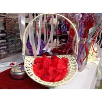 Panier corbeille pétale de rose déco mariage MPC2