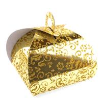 50 boîtes à gâteaux pour faire part mariage baptême motif floral BTC2 Doré