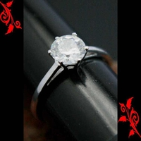 Bague alliance diamant cz argent rhodie BGA32 7mm