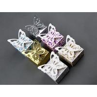 Boîtes à dragées papillon floral pour faire part mariage BTP6