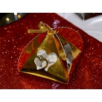 Lot boîtes à gâteaux pyramide motif double cœur BTG1