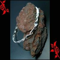 Bracelet goumette femme maille tresse argent 925 BRA10