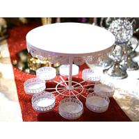 Présentoir support à gâteau mariage en métal PGT1