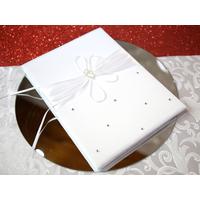 Livre d'or mariage élégance satin cœur  MLO1