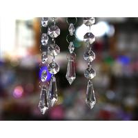 Pampille goutte d'eau cristal Multi facettes décoration mariage MDP4