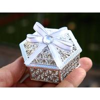 50 boîtes à dragées métallisés hexagonal orientales mariage BTD36