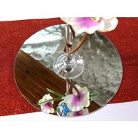 5 Grand miroir rond centre de table mariage Ø 35 cm MMR1