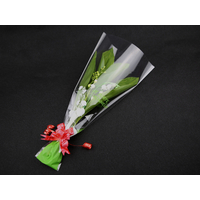100 emballage cellophane roses en bois ou brins de muguet 1er Mai CLO9