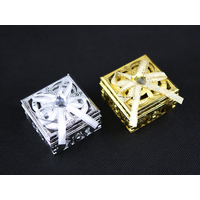 Boîtes à dragées métallisés carrées mariage cérémonie BTD38