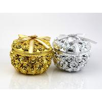 Contenants boîte à dragées bijoux ronde  BTD41