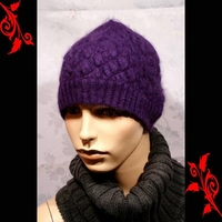 Bonnet femme angora fashion feminin mode BNE1 VIOLET