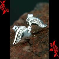 Boucles d'oreilles bo coeur argent saint valentin BOA95