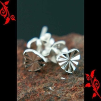 Boucles d'oreilles bo coeur argent saint valentin BOA92