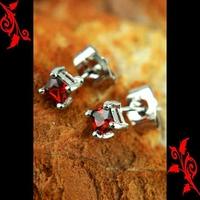 Boucles d'oreille diamant cz homme cl plaque BO31 4mm R