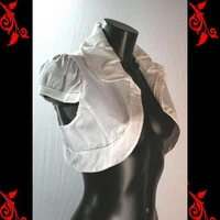 Bolero gilet pr robe bustier soiré T 36 38 40 42 neuf VBL1 blanc