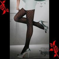 Collant noir fantaisie carreaux sexy neuf 36 38 TU 8307