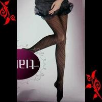 Collant noir fantaisie imprime sexy neuf 36 38 TU 8306