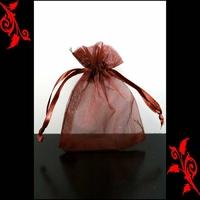 120 Sachet organza fete emballage a dragée mariage bapteme 10x15 marron