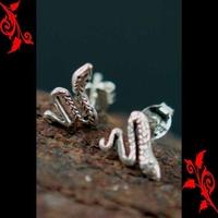 Boucles d'oreilles bo serpent homme enfant argent BOA29