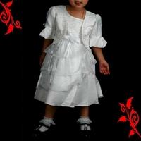 Robe fille bolero mariage ceremonie 4 ans à 10 ans FRB2 blanche