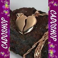 Chaîne pendentif coeur secable partager cl plaque COP28