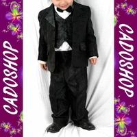 Costume enfant garçon mariage bapteme 1 2 3 4 ans VCS7 noir