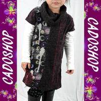 Robe tunique imprime fille enfant 2 4 6 8 10 12 14 ans FRB4 VIOLET