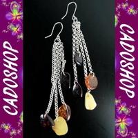 Boucles d'oreilles bo ambre argent fete des meres BOM34