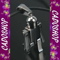 Collier homme pendentif robot articulé acier neuf COS26